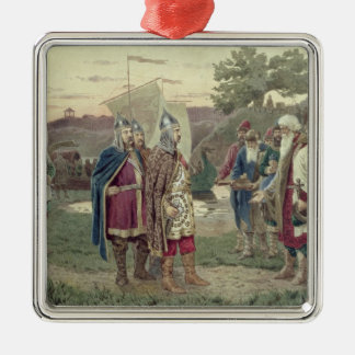 The Grand Duke Meeting with the People Silver-Colored Square Decoration