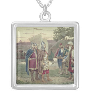 The Grand Duke Meeting with the People Silver Plated Necklace
