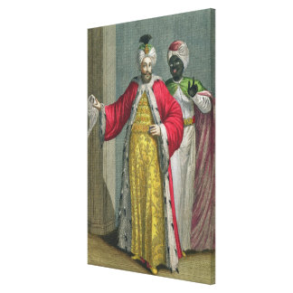 The Grand Lord, in his seraglio with the Kislar Ag Canvas Print