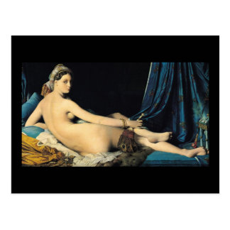 The Grand Odalisque 1814 Jean Auguste Dominique Postcard