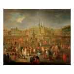 The Grand Place during Mardi Gras, Cambrai, 1765 Poster