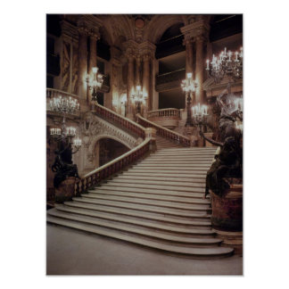 The Grand Staircase of the Opera-Garnier Poster