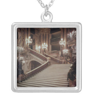 The Grand Staircase of the Opera-Garnier Silver Plated Necklace