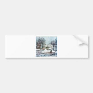 The Grand Street Entering to Argenteuil, Winter Bumper Sticker