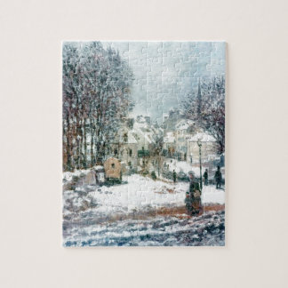 The Grand Street Entering to Argenteuil, Winter Jigsaw Puzzle