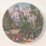 The Grand Tetons - Wyoming Beverage Coasters