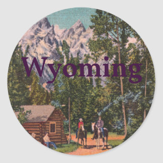 The Grand Tetons - Wyoming Classic Round Sticker