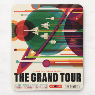 The Grand Tour - Retro NASA Travel Poster Mousepad