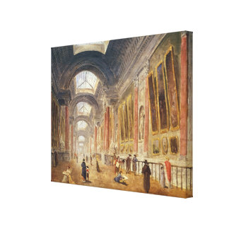 The Grande Galerie of the Louvre Canvas Print