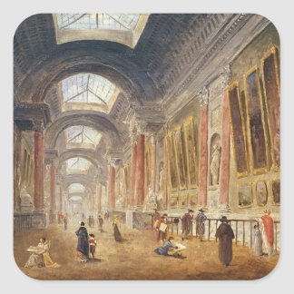 The Grande Galerie of the Louvre Square Sticker