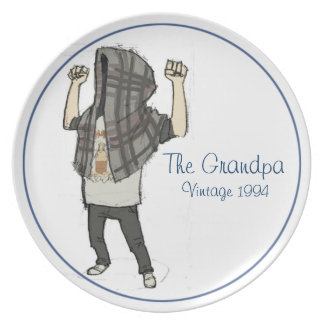 The Grandpa Vintage Plate