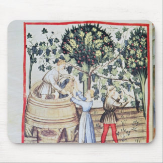 The Grape Harvest, 13th century Mouse Pad