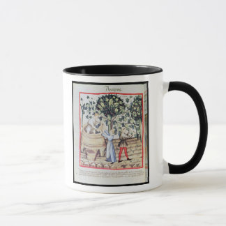 The Grape Harvest, 13th century Mug