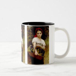 The Grape Picker Two-Tone Coffee Mug