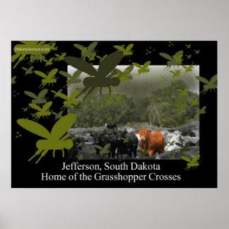 The Grasshopper Crosses Poster Cattle scene