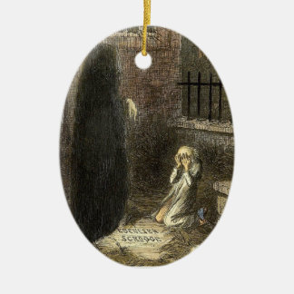 The Grave of Scrooge. Christmas Ornament