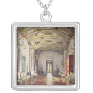 The Great Agate Hall in the Catherine Palace Silver Plated Necklace