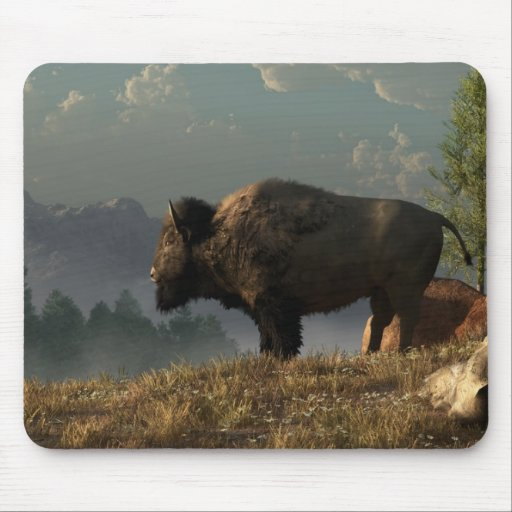 The Great American Bison Mouse Pads