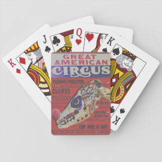 The Great American Circus Freak Playing Cards