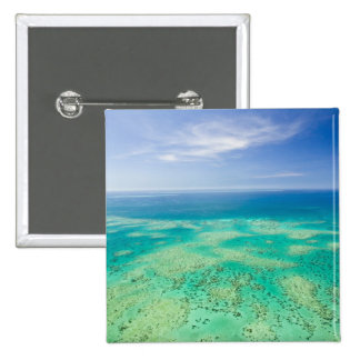 The Great Barrier Reef, aerial view of Green 2 15 Cm Square Badge