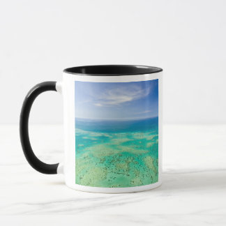 The Great Barrier Reef, aerial view of Green 2 Mug