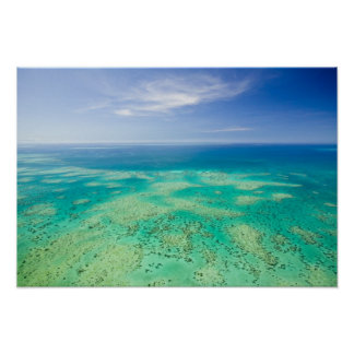 The Great Barrier Reef, aerial view of Green 2 Poster