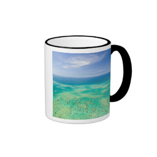 The Great Barrier Reef, aerial view of Green 2 Ringer Mug
