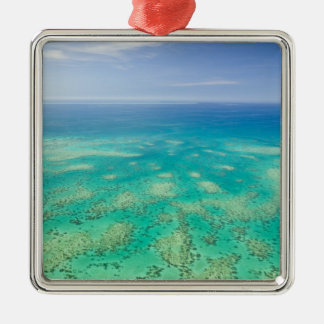 The Great Barrier Reef, aerial view of Green Christmas Ornament