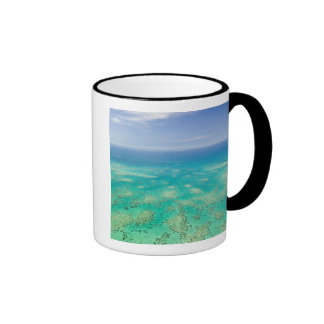 The Great Barrier Reef aerial view of Green Coffee Mugs
