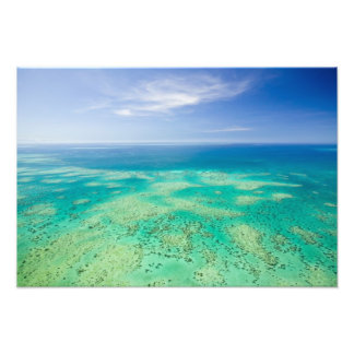 The Great Barrier Reef, aerial view of Green Photo Print