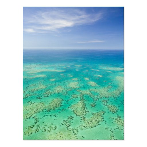 The Great Barrier Reef, aerial view of Green Post Cards