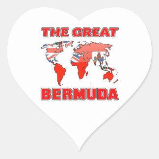 The Great BERMUDA. Heart Sticker