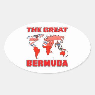 The Great BERMUDA. Oval Sticker