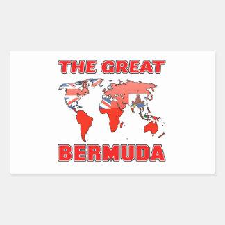 The Great BERMUDA. Rectangular Sticker