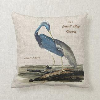 The Great Blue Heron - Cotton Cushion