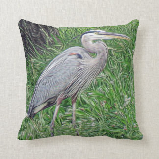 The Great Blue Heron Photographic Art Cushion