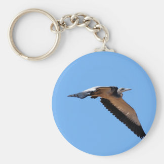 The great blue herons big stretch in the sky key chain