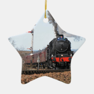 The Great Britain III steam train Ceramic Star Decoration