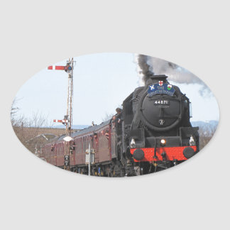 The Great Britain III steam train Oval Sticker