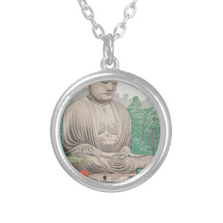 The Great Buddha at Kamakura FUJISHIMA TAKEJI Silver Plated Necklace