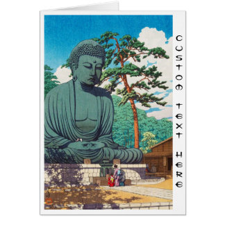 The Great Buddha at Kamakura Hasui Kawase hanga Card