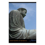 The Great Buddha at Kamakura Poster
