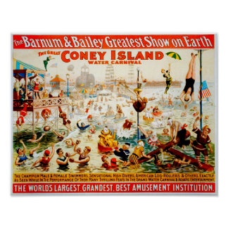 The Great Coney Island Water Carnival Poster