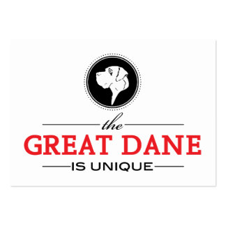 the Great Dane is unique Pack Of Chubby Business Cards