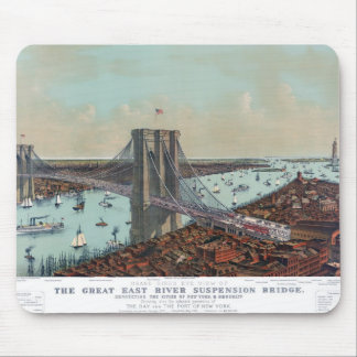 The Great East River Suspension Bridge Mouse Pads