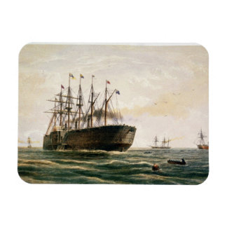 The Great Eastern under way, July 23rd, 1865, from Rectangular Photo Magnet
