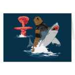 The Great Escape - bear shark cavalry Greeting Card