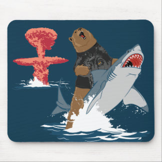 The Great Escape - bear shark cavalry Mouse Mat