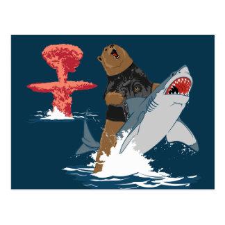 The Great Escape - bear shark cavalry Postcard