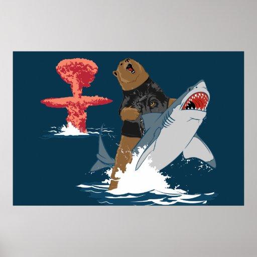 The Great Escape - bear shark cavalry Print